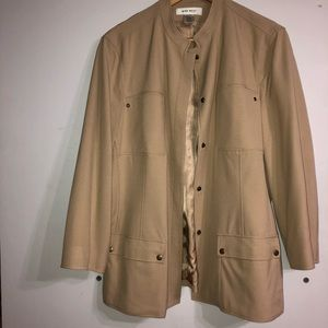 Belted Button Down Nine West Jacket